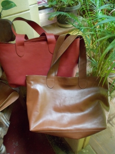 Our custom leather line