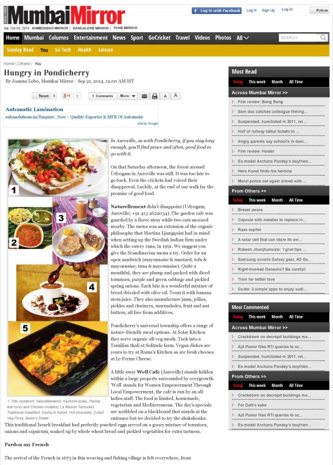 Hungry in Pondicherry - Mumbai Mirror-page-001