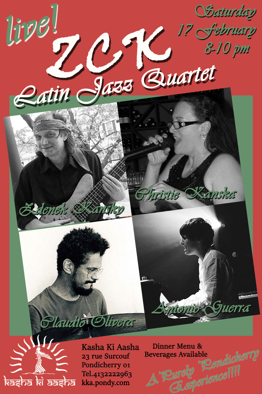 INTERNATIONAL Performance – ZCK Latin JAZZ Quartet at Kasha